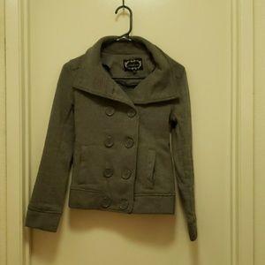 Short gray coat